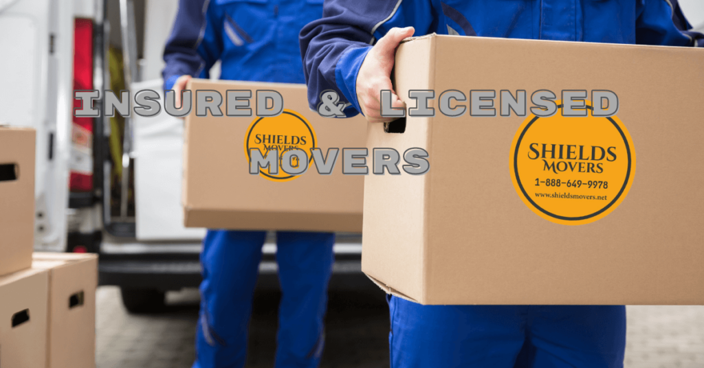 licensed and insured movers
